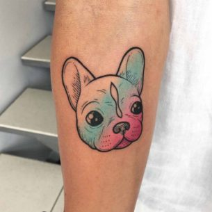 Bulldog Puppy Tattoo Cute