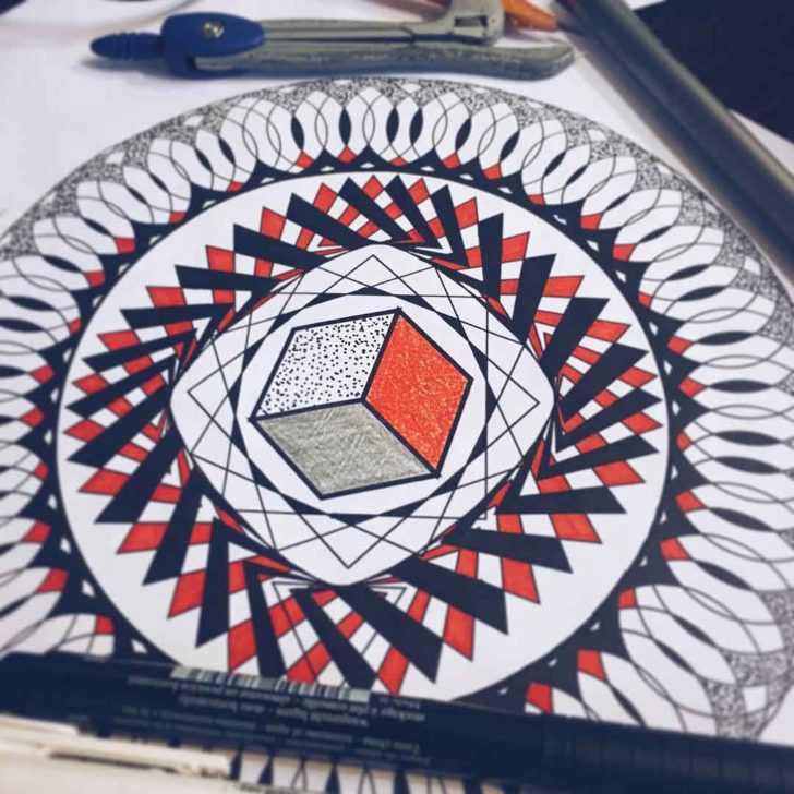 geometrical tattoo design circle shaped