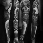 full sleeve dark tattoo