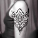 Dotwork Ornament Tattoo on Shoulder