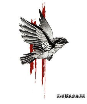 Dotwork Sparrow Tattoo Idea