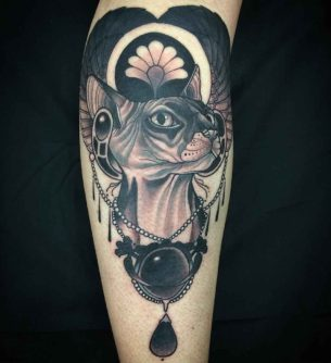 Egypt Cat Tattoo Sphynx
