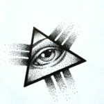 Eye Triangle Tattoo Design