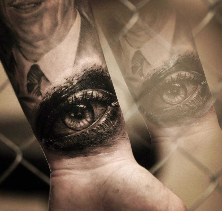 Eye tattoo on wrist