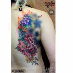 Flowers on Back Tattoo