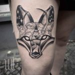 Fox Thigh Tattoo