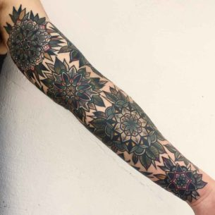 Full Tattoo Sleeve of Mandalas