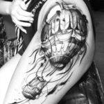 Girl Hip Tattoo Air Balloon
