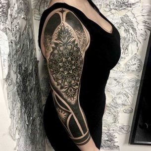 Half Tattoo Sleeve for Girl