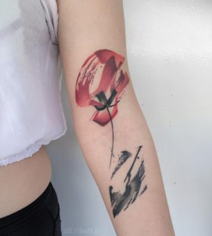 Healed poppy flower