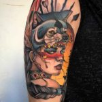 Indian Chief Girl Tattoo