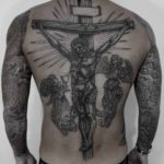 Jesus Back Tattoo