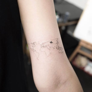 Map of World Tattoo