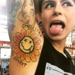 Nirvana Themed Tattoo on Armpit
