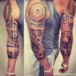 Polynesian Half Sleeve Tattoo