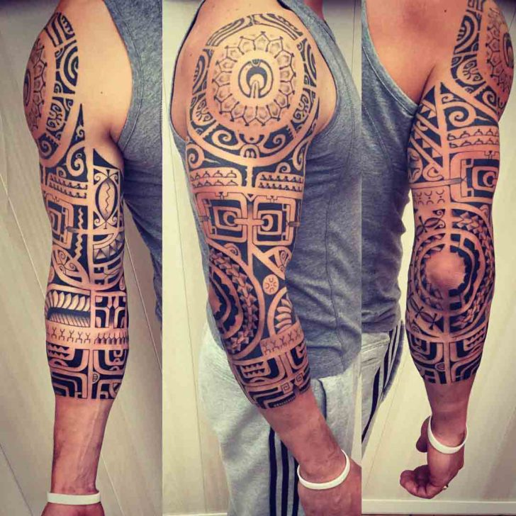 polynesian half sleeve tattoo best tattoo ideas gallery. Black Bedroom Furniture Sets. Home Design Ideas