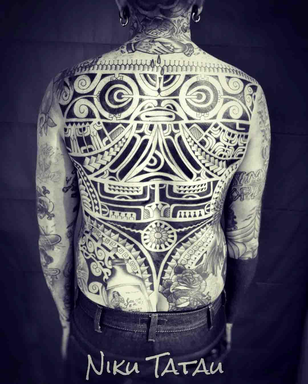 Polynesian Full Back Tattoos: Polynesian And Maori Tattoos