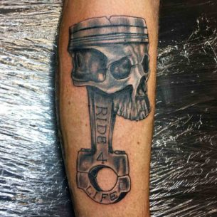 Ride 4 Life Piston Tattoo