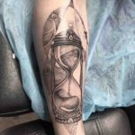 Sand Hourglass Tattoo