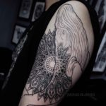 Shoulder Mix Tattoo Whale and Mandala