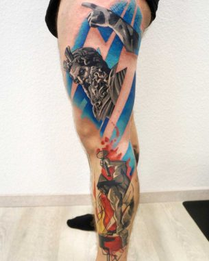 Side Leg Tattoo Designs