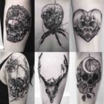 different skulls tattoos