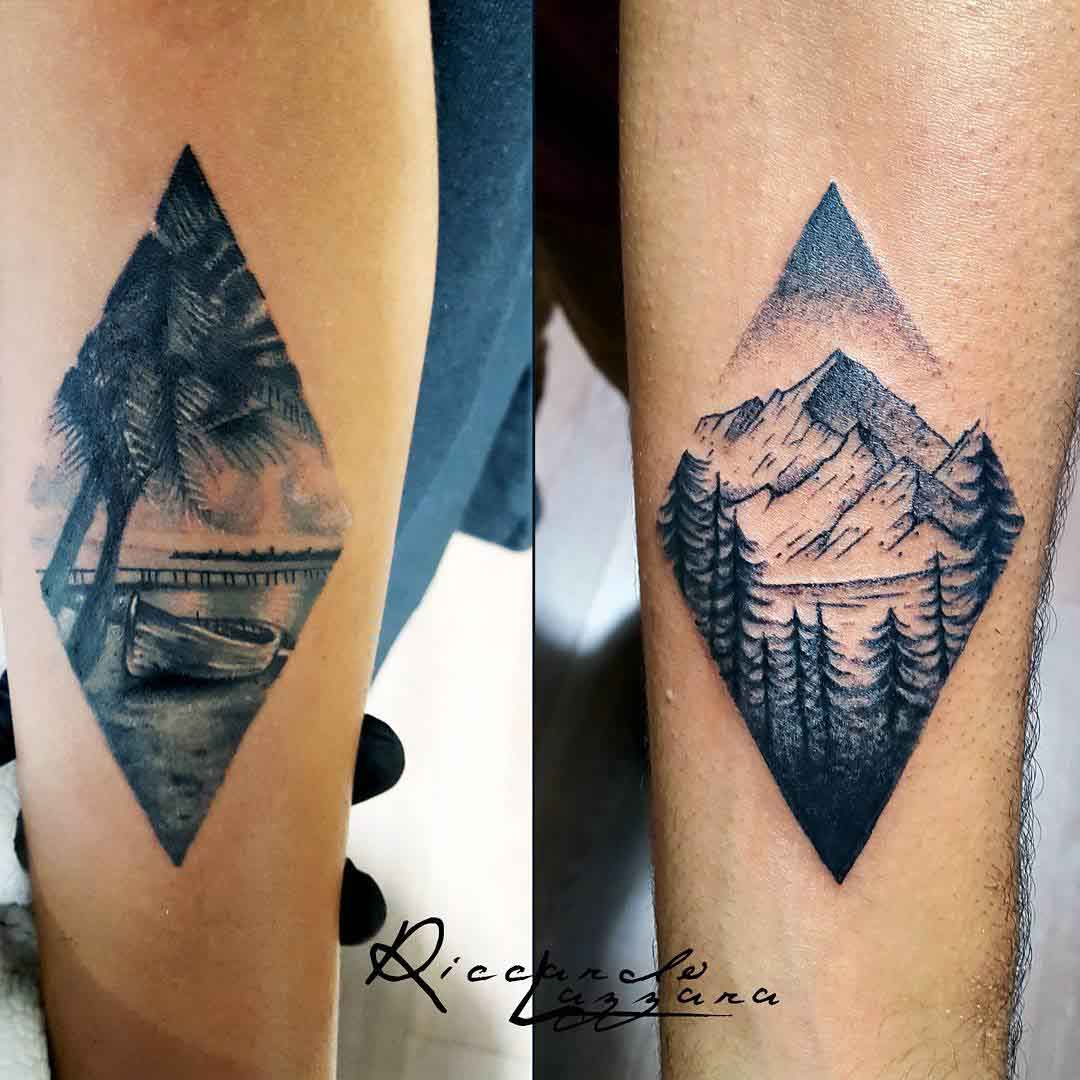 landscape tattoos for couples