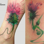 Thistle Flower Tattoo