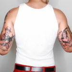 gangster tattoos on back of arm