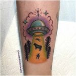 UFO Simple Tattoo