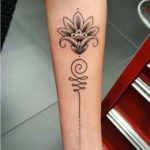 arm lotus tattoo