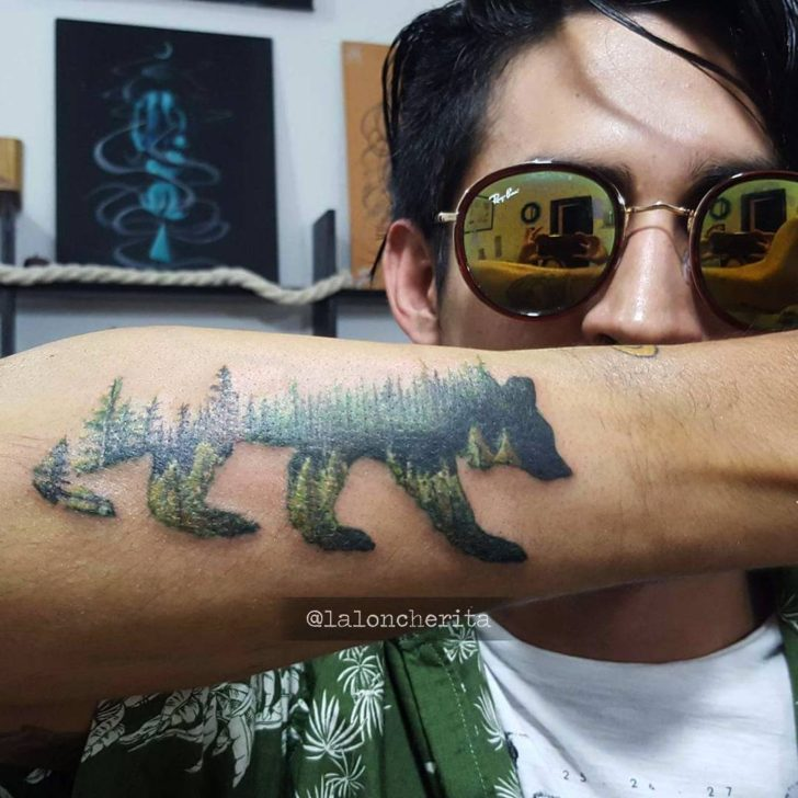 bear tattoo by laloncherita
