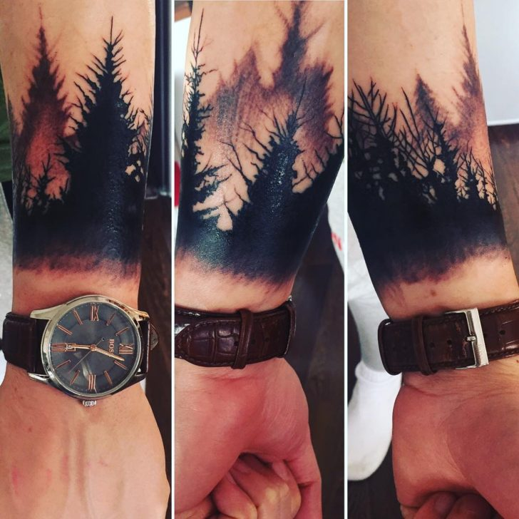 forest bracelet tattoo by wait_for_kyle