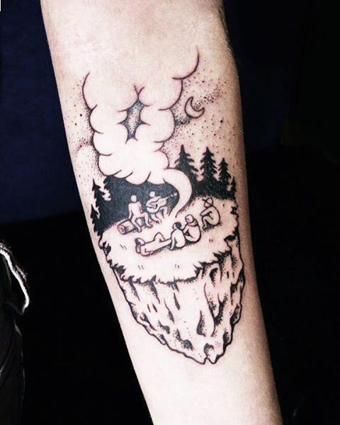 forest party tattoo by julia._.mo
