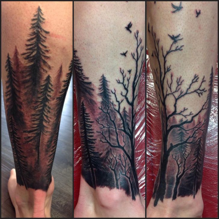 red forest tattoo atawera_art
