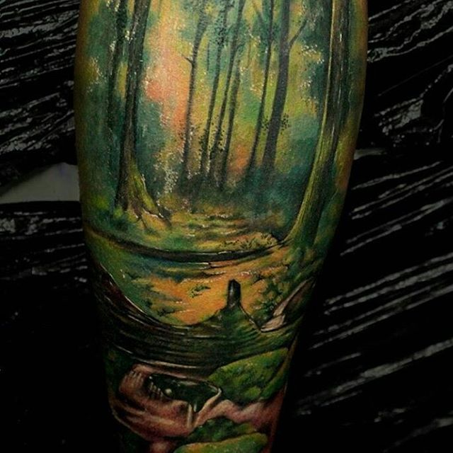 wild forest colour tattoo by imperialproductos