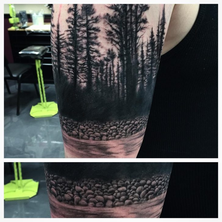 wild forest tattoo by jaycunliffe