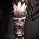 3D Lotus Flower Tattoo