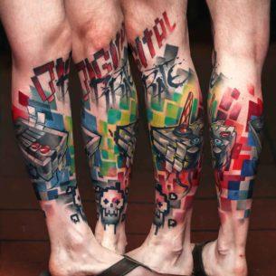 8 Bit Tattoo New School
