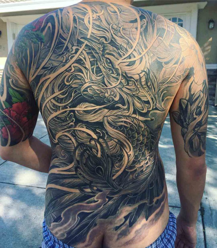 full back tattoo amazing artwork