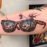Bicep Tattoo Neotraditional Glasses