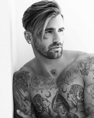 Chris Perceval with Traditional Tattoos