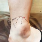 ankle tattoo constellation