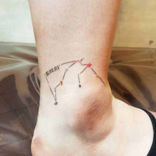 Constellation Tattoo on Ankle