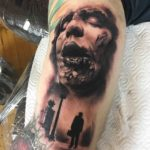 Corpse Investigation Tattoo Horror