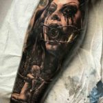 Creepy Horror Tattoo