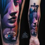 Face Ink Flow 3D tattoo on Arm