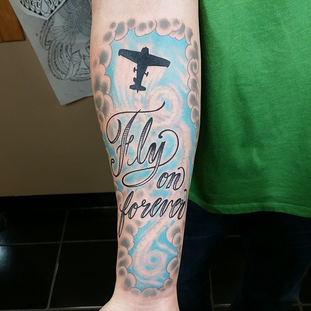 Fly on Forever Tattoo on Forearm by Will Thompson