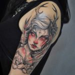 Girl Fawn Tattoo