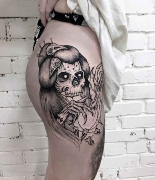 Girl Skull Tattoo
